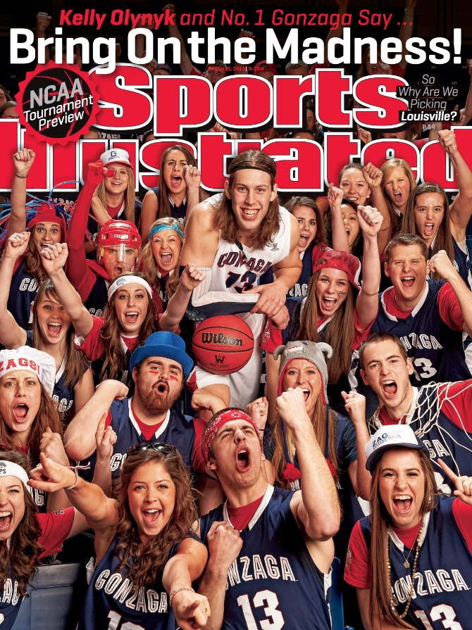 Your first of four March Madness Covers!   Kelly Olynyk and No. 1 Gonzaga say Bring on the Madness!