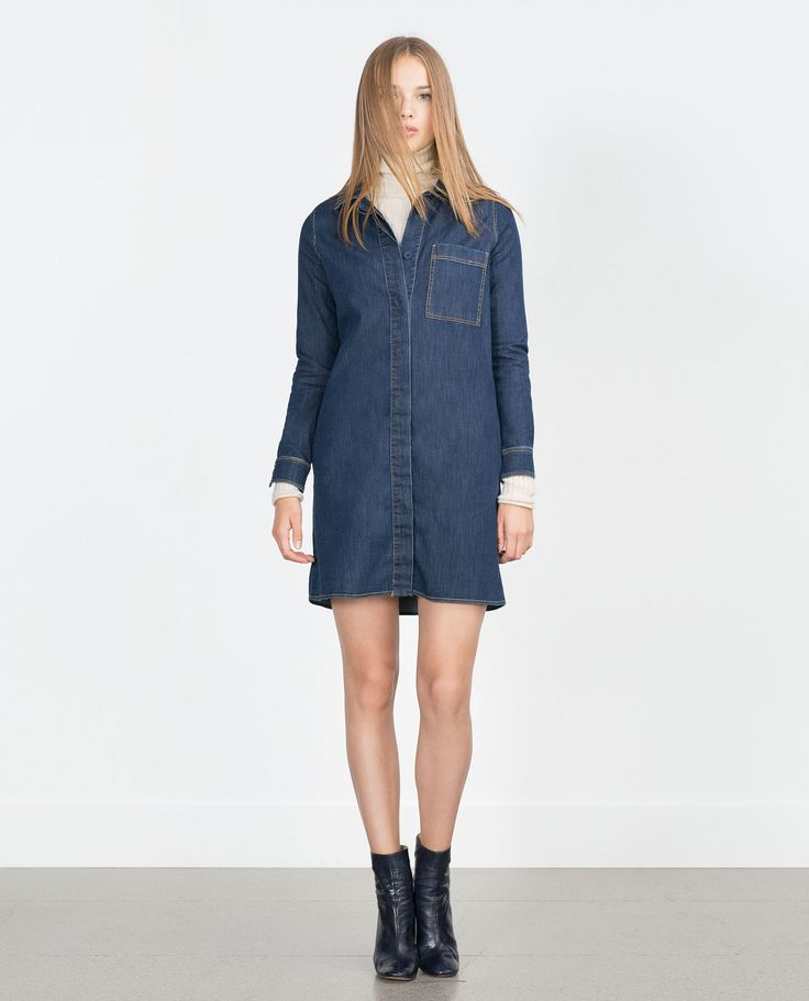デニムオーバーシャツ - すべてを見る - ドレス ワンピース - レディース - SALE | ZARA 日本
