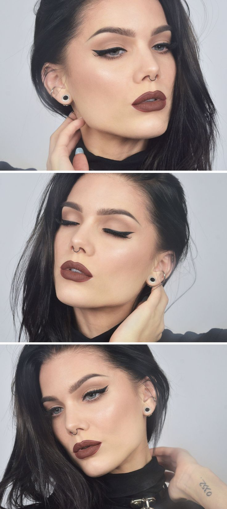TODAYS LOOK | SALEM (NM: Love matte brown lipstick shades, they're the best thing since sliced bread. True fact.)