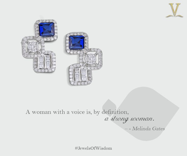 Your strength and resilience are matchless, the unique sapphire earrings to compliment your spirit. #JewelsOfWisdom.