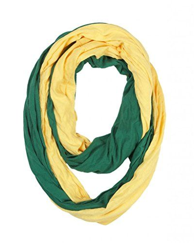 Game Day (College Pro High School Team) Infinity Circle Scarf - Green & Yellow. SHOW YOUR SPIRIT: Get fired up and cheer your team on to victory with this green and yellow (gold) scarf. Whether it's for varsity, high school, college, fantasy or professional, this scarf is perfect for any sporting event. Great for football, basketball, baseball, hockey, tennis, softball, rugby, wrestling, lacrosse, marching band, dance, swim and more! Show your pride as a freshman, sophomore, junior or senior…