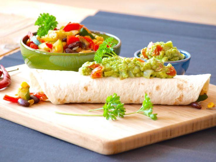 Glutenvrije vegetarische wraps recept met huisgemaakte guacamole