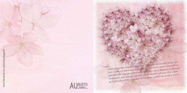 PHOTOSHOP: Modello di biglietto invito - Cuore di fiori