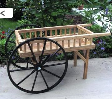 Peddlers Cart, Rustic Wooden Display