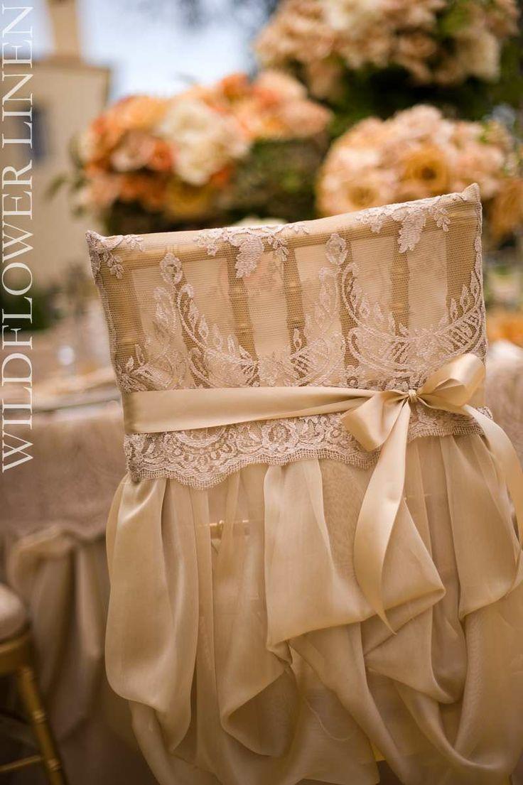 Vintage wedding furniture decor - 33 Chair Swag Wedding Chair Decoration Ideas Confetti Daydreams