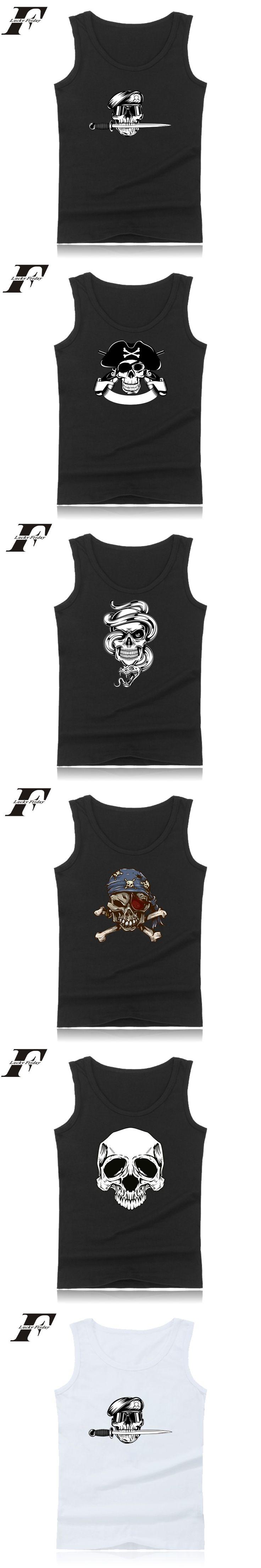shirt Skeleton fitness Bodybuilding Tank Top Skull Print Fitness  clothing Workout Tank Top men Summer Vest 4xl