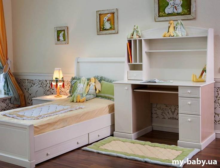 Мебель серии MyBaby® GLAMOURBUNNY просто необходима в Вашей детской! Белоснежная, четкая и деликатная, при этом необычайно прочная и надежная , с характерной любовью к деталям - идеально впишется в комнату Вашего малыша, позволяя ему самостоятельно расставить цветовые акценты и наполнить детскую яркой жизнью! http://www.my-baby.ua/