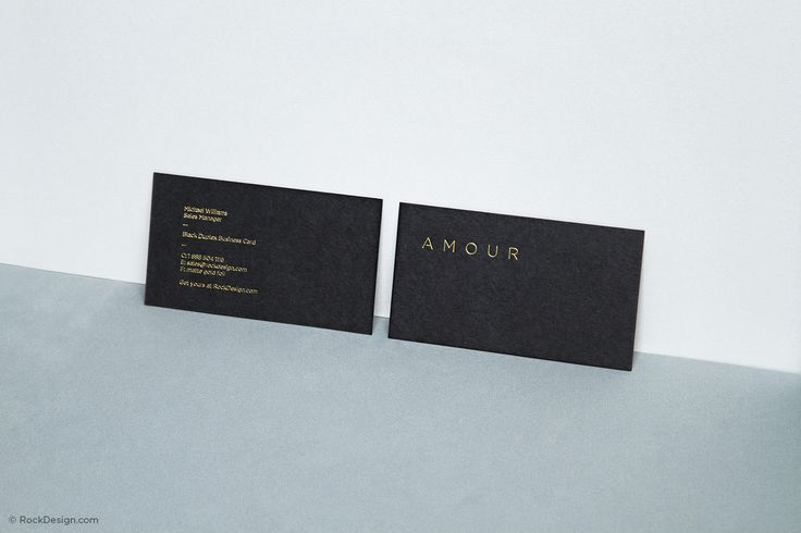 Fancy Unique Black Business Card Design Template - Amour   RockDesign Luxury Business Card Printing