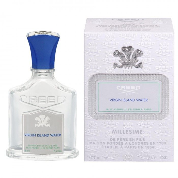 CREED VIRGIN ISLAND WATER 75ML - A trip to the Caribbean Islands undertaken by Olivier and Erwin Creed inspired this fragrance. Intoxicating tropical summer scents of Mandarin and Lime, sculpted in the Trade Winds, danced across the water, while on deck, father and son drew inspiration, both visual and olfactory, from the tropical palette before them. Virgin Island Water is a delicious cocktail that will whisk you away to the Caribbean where life is serene.