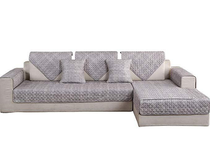 hotniu non slip quilted sectional sofa