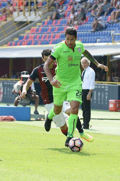 Marco Borriello # 22 of Cagliari Calcio in action during the Serie a match…
