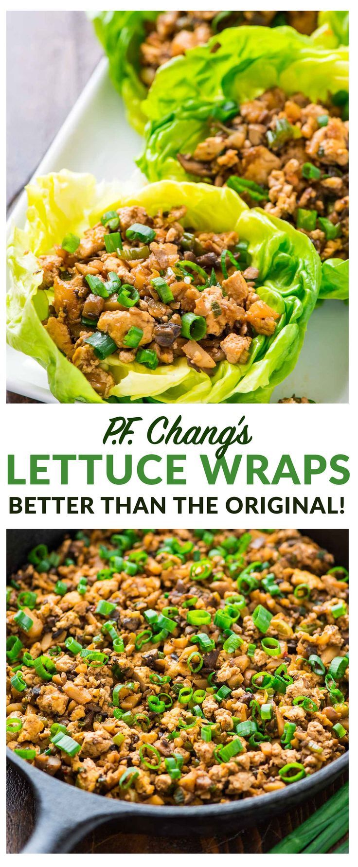 Copycat PF Changs Vegetarian Lettuce Wraps. Less than 200 calories for a HUGE se…