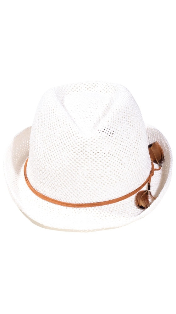 Feather Fedora Hat :) I would most definitely wear this