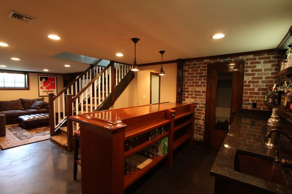 200 best images about home down stairs on pinterest for Beautiful basements pictures