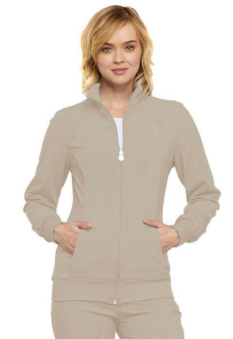 c4faf947126 eBay #Sponsored Scrubs Cherokee Infinity Zip Front Jacket 2391A Khaki FREE  SHIPPING