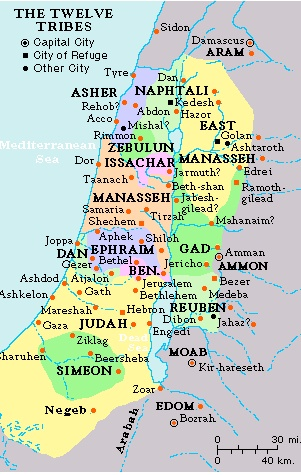 12 tribes of Jacob allotted land in Israel over 3000 yrs ago.