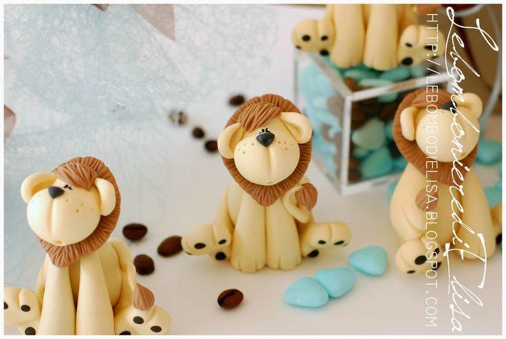 Bomboniere segno zodiacale leone, bomboniere battesimo leoni
