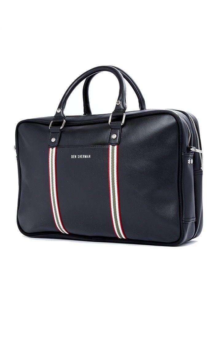 Iconic Double-Zip Commuter Bag   Coal   Ben Sherman