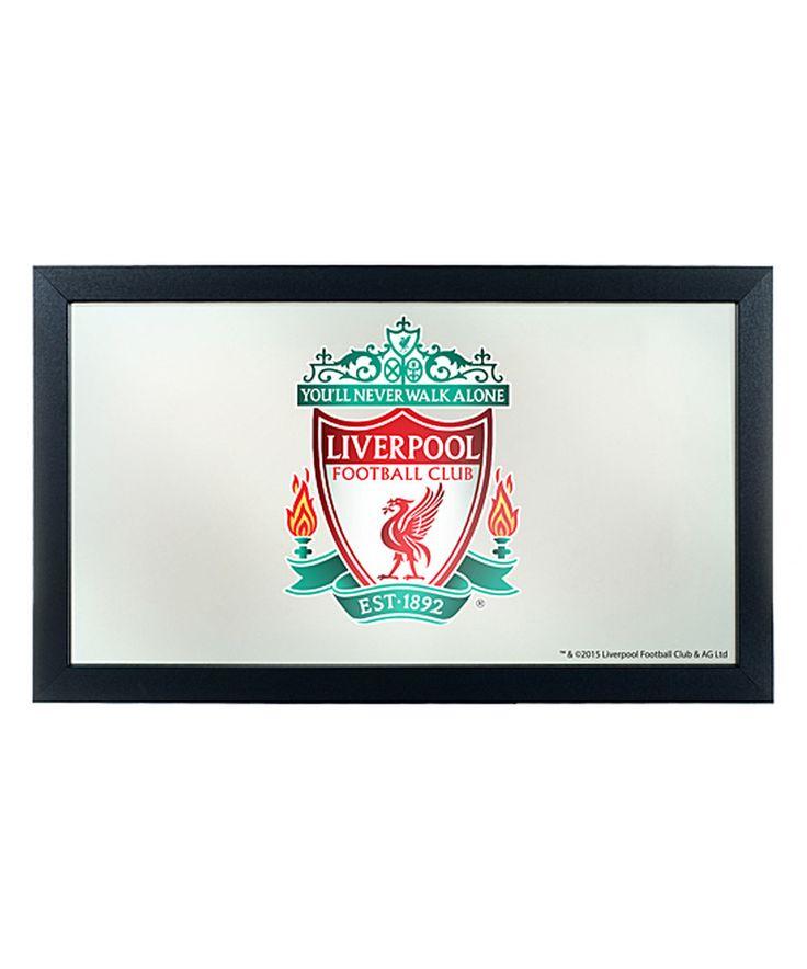 Look what I found on #zulily! Liverpool Framed Logo Mirror by Trademark Global #zulilyfinds