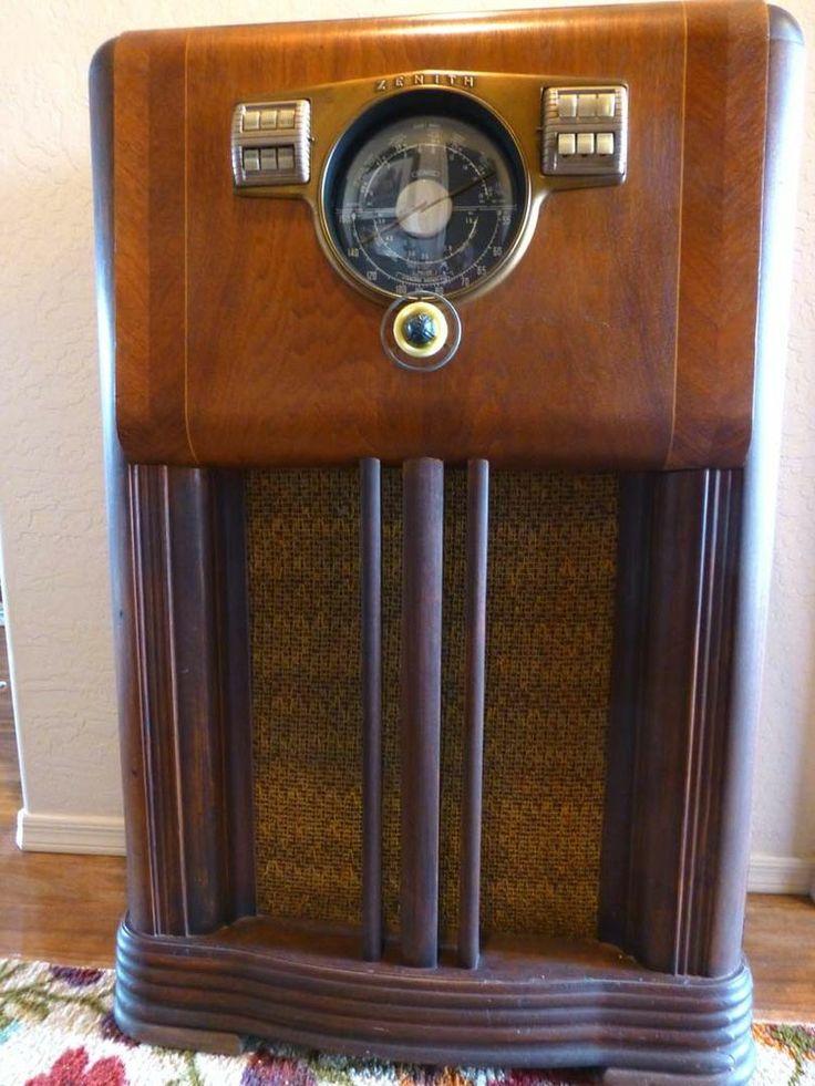 Antique 1941 Zenith Console Radio Radios In 2019