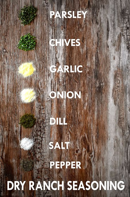 A simple, homemade version of the popular dry ranch seasoning, to use on chicken, in dips and dressings, on top of popcorn, and more | The Small Town Foodie