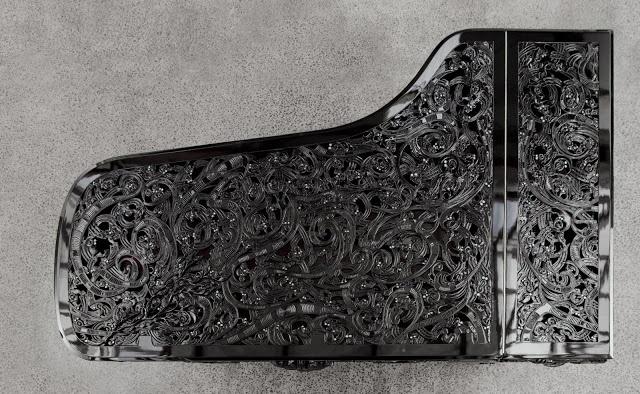 Michael Parekowhai piano from the top