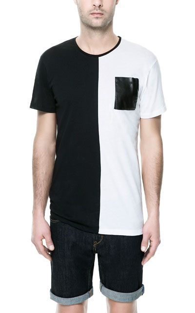 TWO - TONE T - SHIRT - Stock clearance - Man - Sale | ZARA China