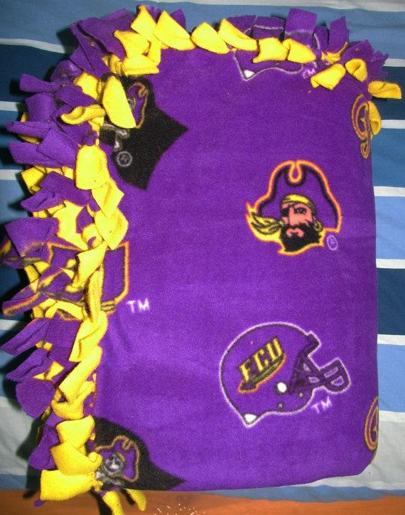 NCAA East Carolina University ECU Pirates fleece blanket