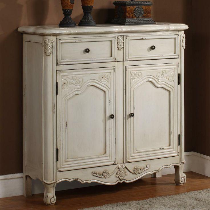 Antique White 1-Drawer, 2-Door Console - antique, white, 1, drawer, 2,  door, console | kitchen island ideas | Pinterest | Antiques, Drawers and  Products - Antique White 1-Drawer, 2-Door Console - Antique, White, 1, Drawer