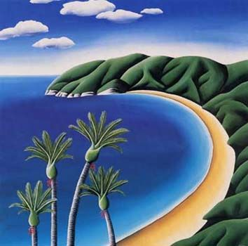 Nikau Bay by Diana Adams for Sale - New Zealand Art Prints