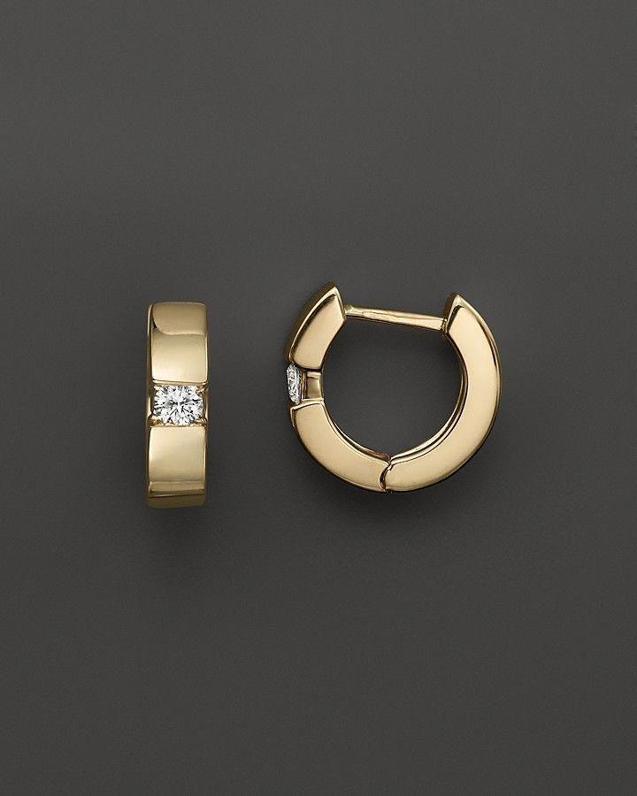 41166d3a9 Bloomingdale's Diamond Huggie Hoop Earrings in 14K Yellow Gold, .25 ct.  t.w. on shopstyle.com #diamondhoopearrings