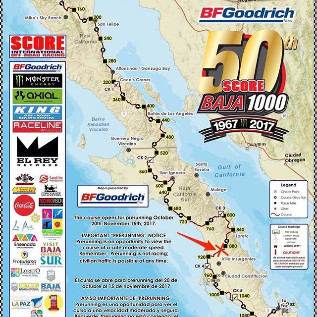 Baja bound this Saturday!  I will be working pit crew near RM 899 on this year's @scoreinternational 50th running of the Baja 1000 🏁. It has been a lifelong dream of mine to run Baja in my own truck and this is the first step towards that goal.  I'll be running my truck as a chase vehicle along with the crew from @forgedoffroad and Mag 7.  We will be literally eating/sleeping/breathing Baja for the next week... so stoked! 🤙🏼 Shoutout to @lynxs961 @_l_raptor @svtsullivan and…
