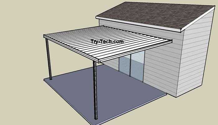 Aluminum Porch Awnings | Attachment Options for Standard Aluminum Patio Covers