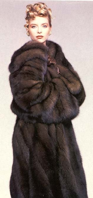 sable fur coat n- my father bought my mother a sable fur coat $$$$$