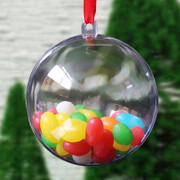 Plein d'idées déco pour Noël en utilisant des boules transparentes à remplir soi-même !