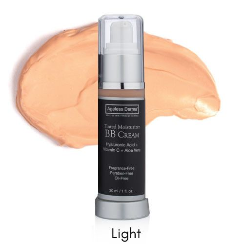 Ageless Derma BB Cream Tinted Moisturizer with Hyaluronic Acid and Vitamin C