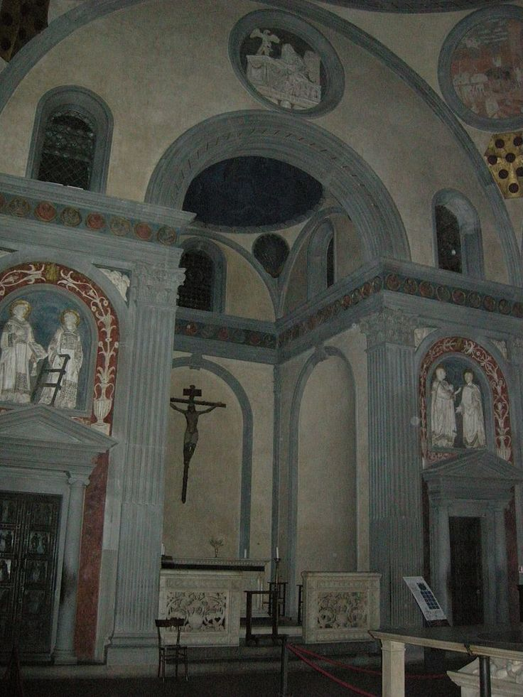 San lorenzo, sagrestia vecchia 01 - Category:Sagrestia Vecchia — Wikimedia Commons. Старая ризница, Филиппо Брунеллески, Церковь Сан-Лоренцо во Флоренции.