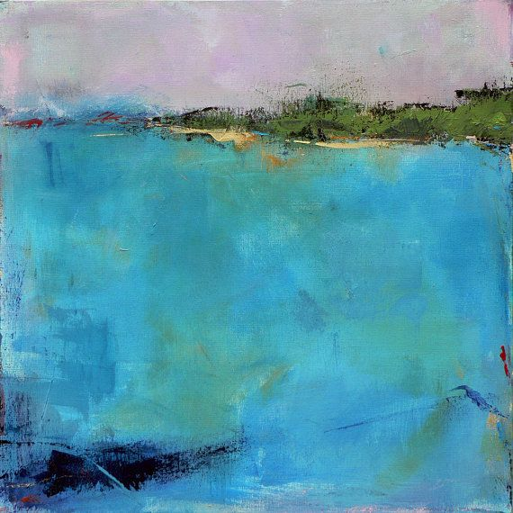Contemporary+Abstract+Landscape+Painting++West+Elm+by+jgouveia,+$1200.00