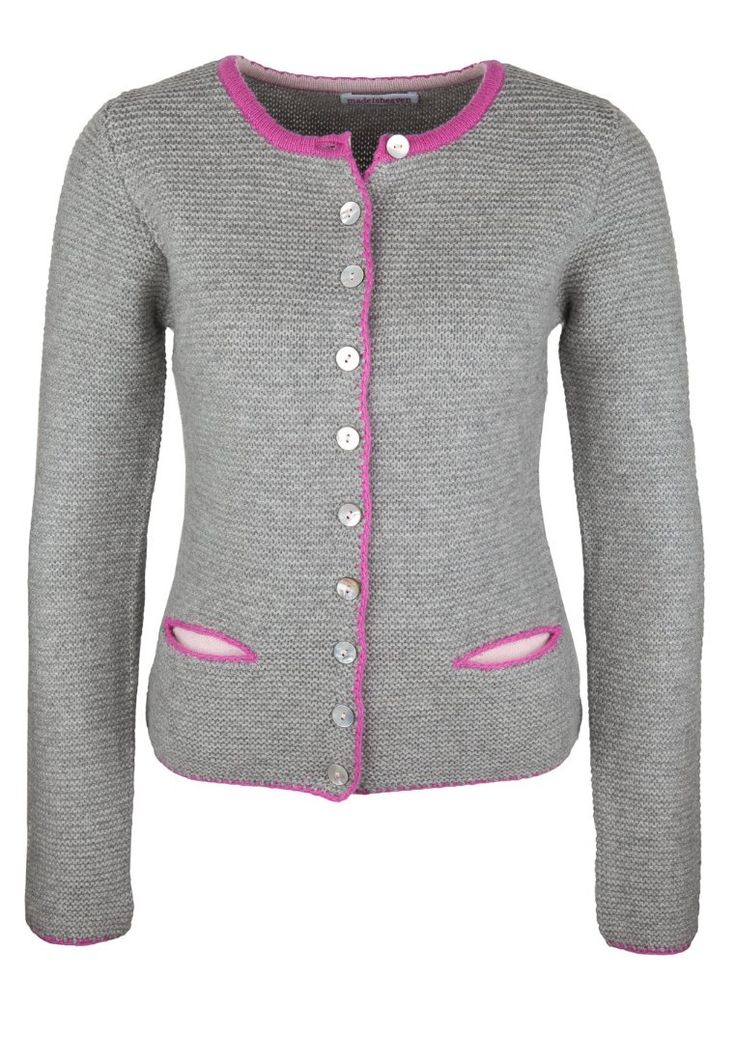 <3 klassisch - sportlich - chic  Made in Heaven - GERMAN JANKER - Strickjacke - grau-pink-rosa