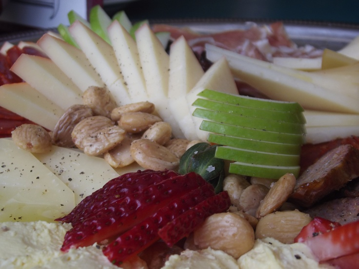 Daryl Rector built this magnificent spanish meat and cheese platter for a party. Such a perfectionist.
