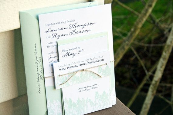 Mountain Flowers Wedding Invitation in Pastels  Design by mavora, $15.00