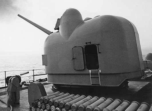 "USN 5""/54 mark 42 gun turret."