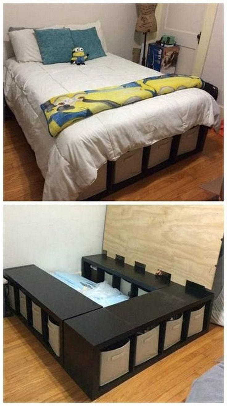 24 simple and cheap diy bed frame designs with storage