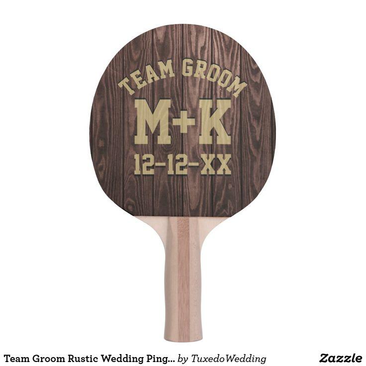 Team Groom Rustic Wedding Ping Pong Paddle