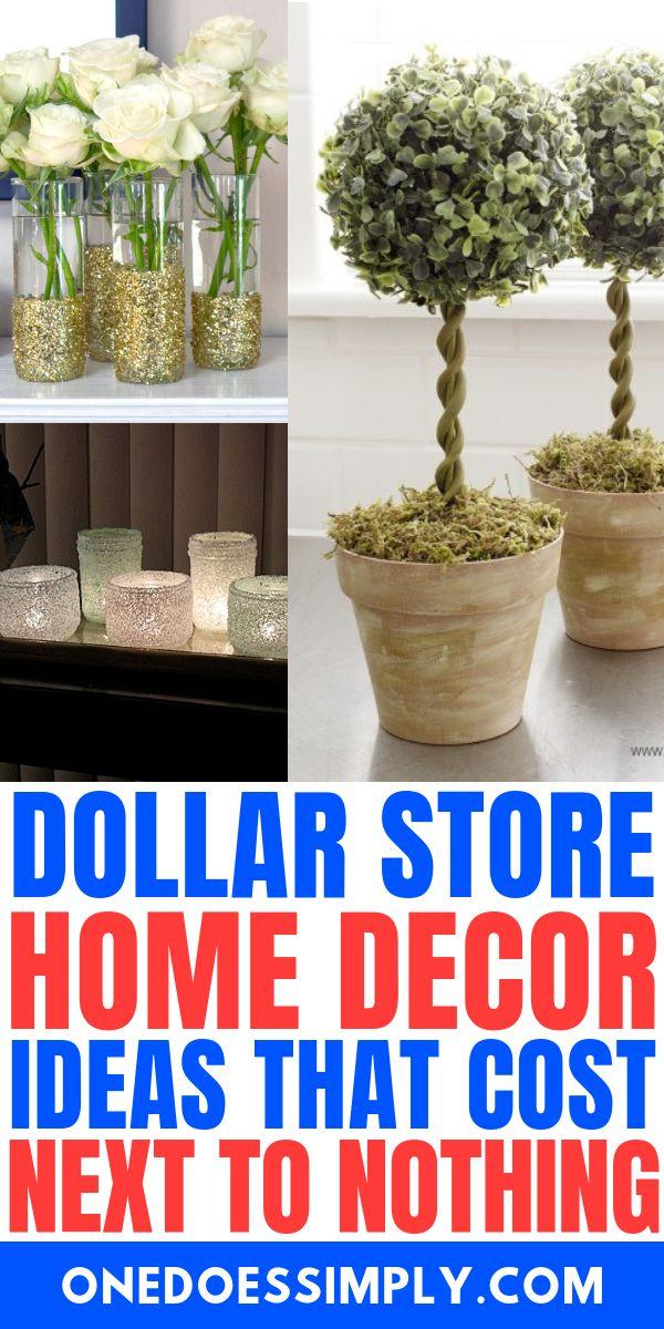 DOLLAR STORE HOME DECCOR IDEAS THAT ARE SUPER CHEAP