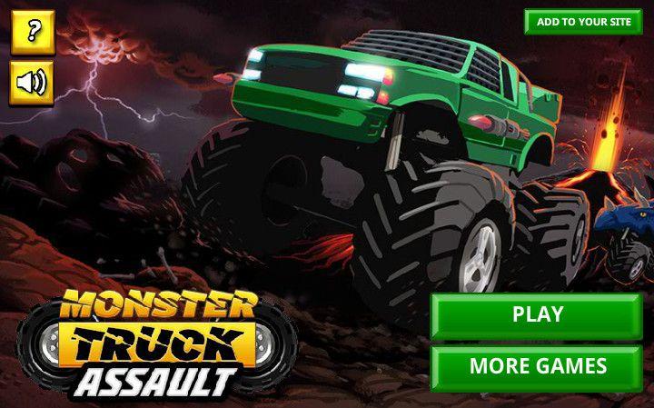 Monster Truck Assault Game :D http://games-freegames.com/monster-truck-assault-game/