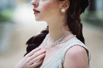 Crystal necklace worn at MUCHA'S FOUR SEASONS VINTAGE & ANTIQUE BRIDAL INSPIRATION  collection by NamaNama
