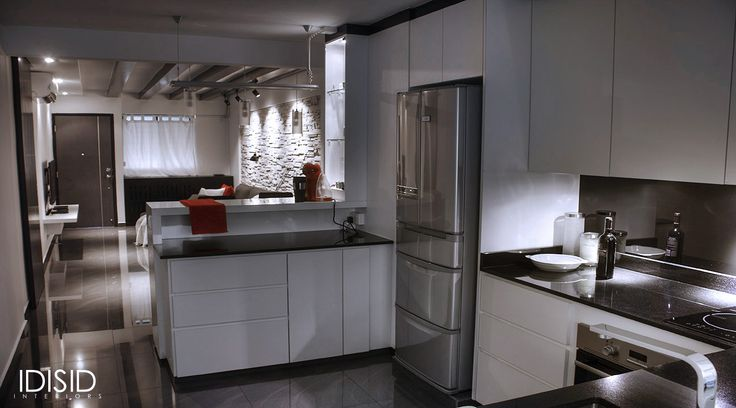 Kitchen Of A Small 2 Bed Room Apartment In Singapore By Idisid Www Idisid Hdb