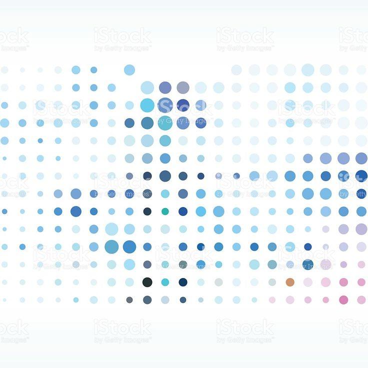カラフルな水玉模様の背景 ロイヤリティフリーのイラスト素材