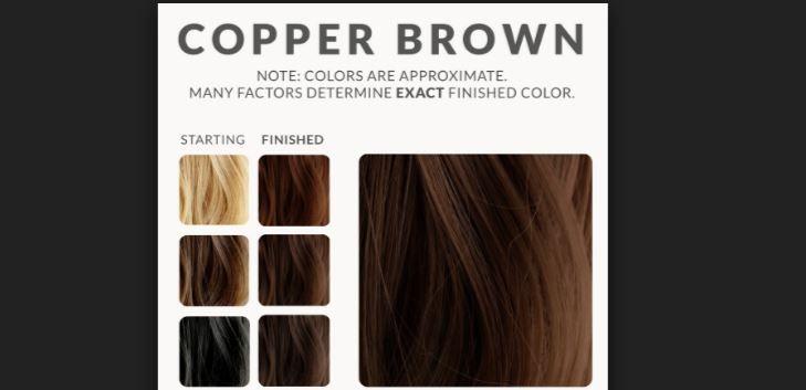 Bakır Kahverengi Saç Renkleri Kataloğu